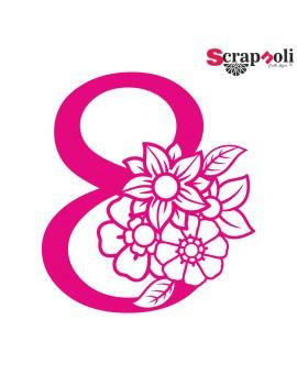 Numero floral C1-8
