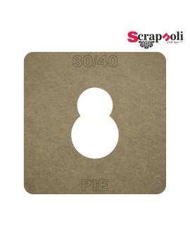 Plantilla Pie 30/40 mm