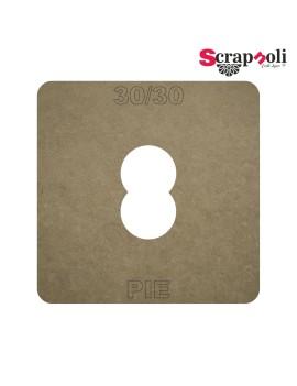 Plantilla Pie 30/30 mm