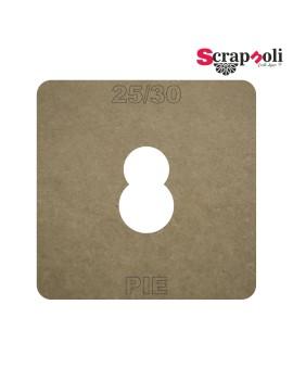 Plantilla Pie 25/30 mm