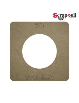 Plantilla Cabeza 70 mm