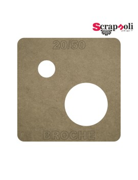 Plantilla Broche 20/50 mm