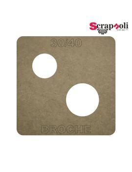 Plantilla Broche 30/40 mm